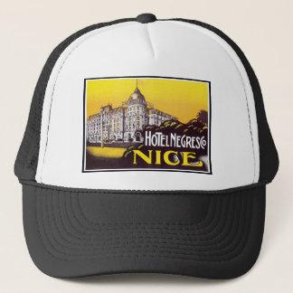 Hotel Negresco Nice Vintage Label Trucker Hat