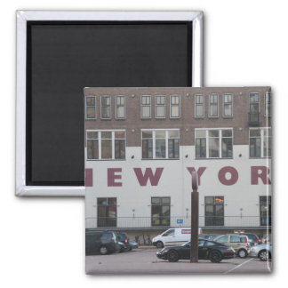 Hotel New York, Rotterdam 2 Inch Square Magnet