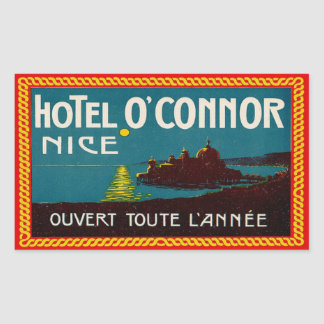 Hotel O'Connor (Nice France) Rectangular Stickers