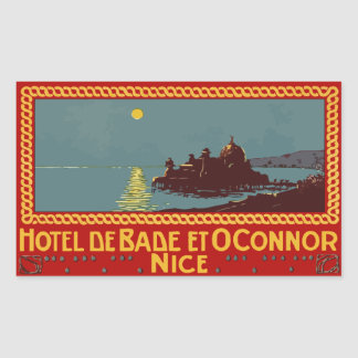 Hotel of Bade and Connor (Nice) Vector format Rectangular Sticker