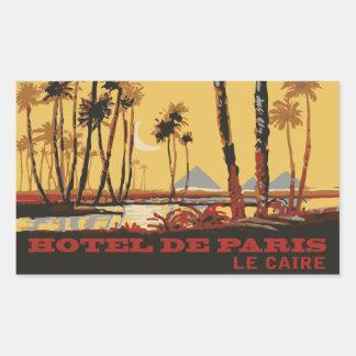 Hotel of Paris (Cairo - Egypt) Vector format Rectangular Sticker