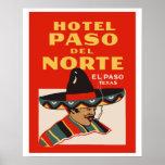 Hotel Paso del Norte (EL Paso - Texas) Póster