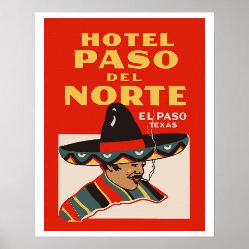 Hotel Paso del Norte El Paso _ Texas Poster