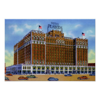 Hotel Peabody de Memphis Tennessee Póster