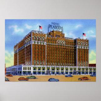 Hotel Peabody de Memphis Tennessee Póster