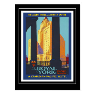Hotel real 1945 de York del viaje del vintage de Tarjetas Postales