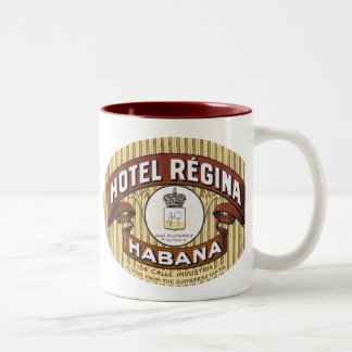 Hotel Regina Habana Cuba Two-Tone Coffee Mug