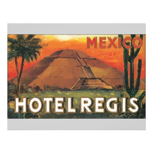 "Hotel Regis, vintage de México Ds Folleto 8.5"" X 11"""