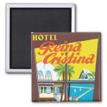 Hotel Reina Cristina ~ Algeciras 2 Inch Square Magnet