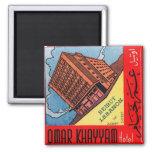 Hotel retro Beirut de Omar Khayyam del kitsch del  Imanes De Nevera