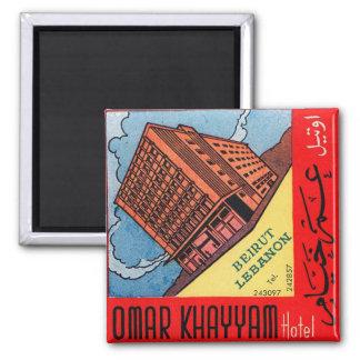 Hotel retro Beirut de Omar Khayyam del kitsch del  Imán Cuadrado