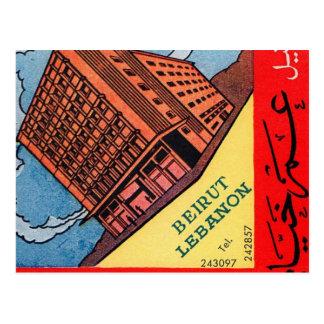 Hotel retro Beirut de Omar Khayyam del kitsch del  Tarjetas Postales