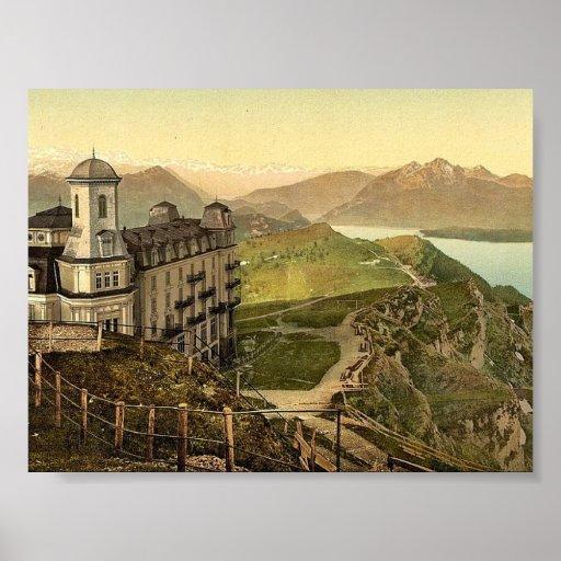 Hotel Rigi Kulm and the Alps, Rigi, Switzerland vi Print