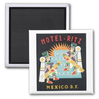 Hotel Ritz Mexico, D.F. 2 Inch Square Magnet
