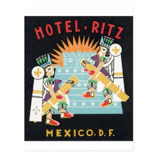 Hotel Ritz, México, gráfico del anuncio del DF Tarjetas Postales