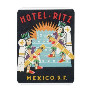 Hotel Ritz Mexico Vintage Ttravel Poster Artwork Magnet