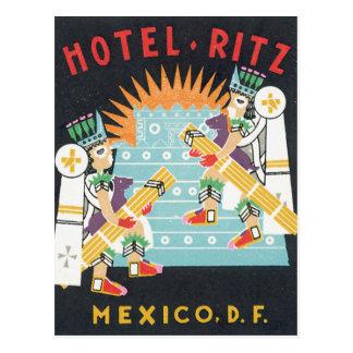 Hotel Ritz Mexico Vintage Ttravel Poster Artwork Postcard
