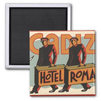 Hotel Roma, Cádiz, España de los Bellhops del Imán Cuadrado