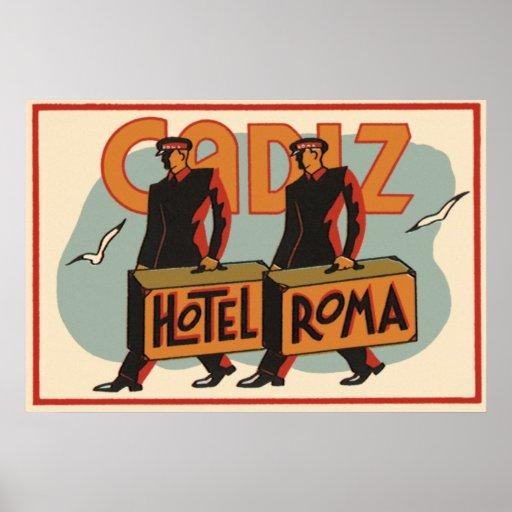 Hotel Roma, Cádiz, España de los Bellhops del viaj Posters