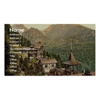 Hotel Rosa in the Great Kohlbacherthal, Tatra, Aus Business Cards