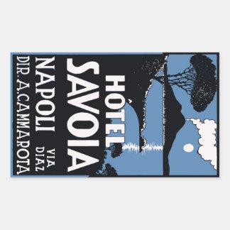 Hotel Savoia (Napoli - Italy) Vector formato Pegatina Rectangular