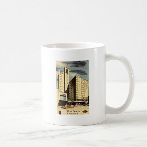 Hotel Seneca, Rochester NY Vintage Classic White Coffee Mug