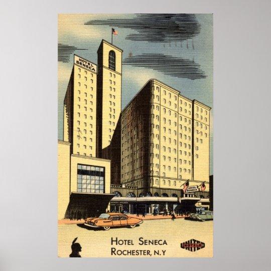 Hotel Seneca, Rochester NY Vintage Poster