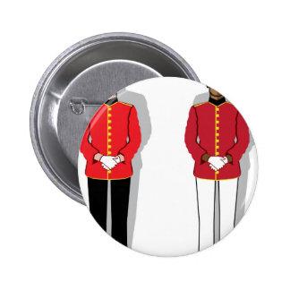 Hotel servant vector pinback button