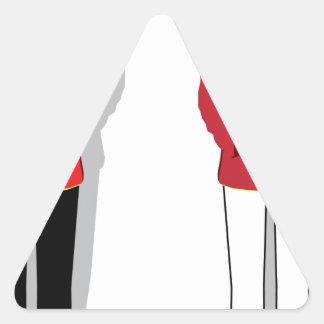 Hotel servant vector triangle sticker