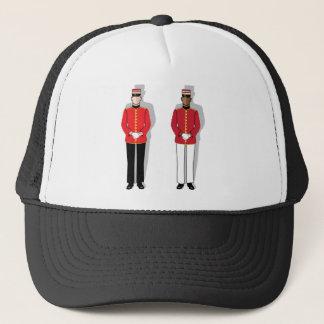 Hotel servant vector trucker hat