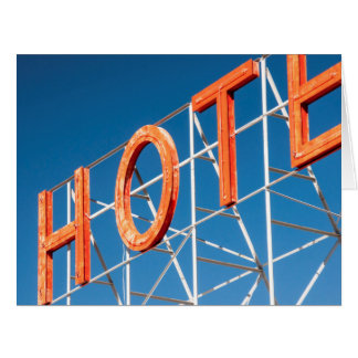 Hotel Sign - Blank Greeting Card