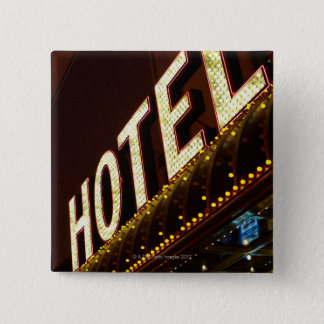 Hotel sign, Las Vegas, Nevada Pinback Button