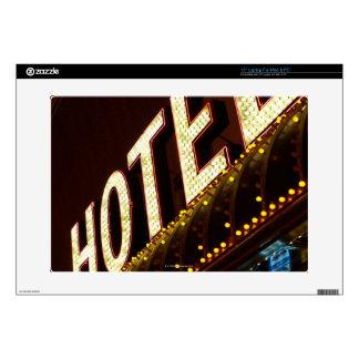 Hotel sign, Las Vegas, Nevada Laptop Decals