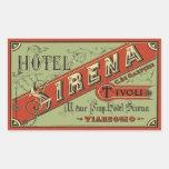 Hotel Sirena (Tivoli - Italy) Pegatina Rectangular