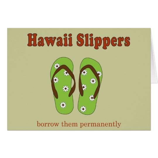 Hotel Slipper Card