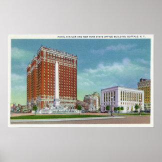 Hotel Statler y edificio de la oficina del estado  Poster