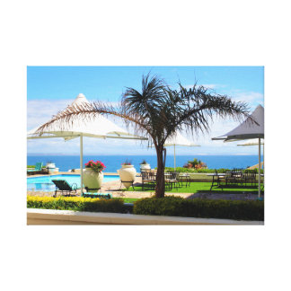 Hotel Swimming Pool and Gardens Canvas Print