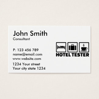 Hotel tester business card