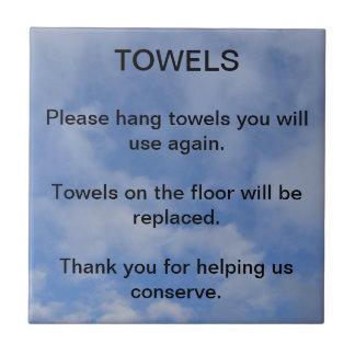 Hotel Towel Sign Tiles