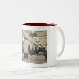 Hotel Traymore Lobby, Atlantic City, NJ Vintage Two-Tone Coffee Mug