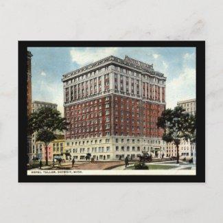 Hotel Tuller, Detroit 1917 Vintage postcard