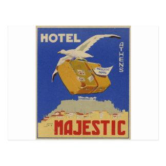 Hotel viejo de Atenas Grecia del anuncio majestuos Tarjeta Postal