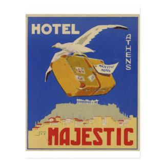 Hotel viejo de Atenas Grecia del anuncio majestuos Postales