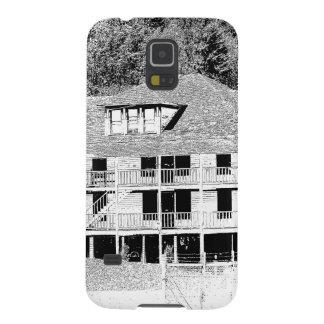 Hotel viejo en el bosquejo de las montañas funda para galaxy s5