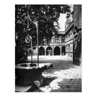 Hotel visto del patio, París de Cluny Postal