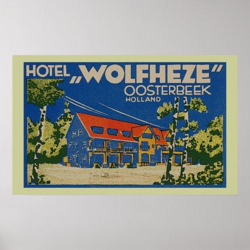 HOTEL WOLFHEZE OOSTERBEEK HOLANDA PÓSTER