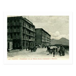 Hoteles reales, Vesuvio continental Nápoles Italia Postales
