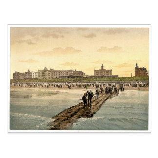 Hotels and beach, Borkum, Schleswig-Holstein, Germ Postcard