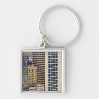 Hotels on Nob Hill near Union Square in San Silver-Colored Square Keychain
