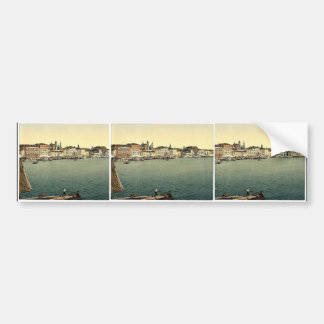 Hotels on the Schiavoni, Venice, Italy vintage Pho Bumper Sticker